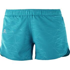 Salomon Trail Runner Shorts Dame enamel blue
